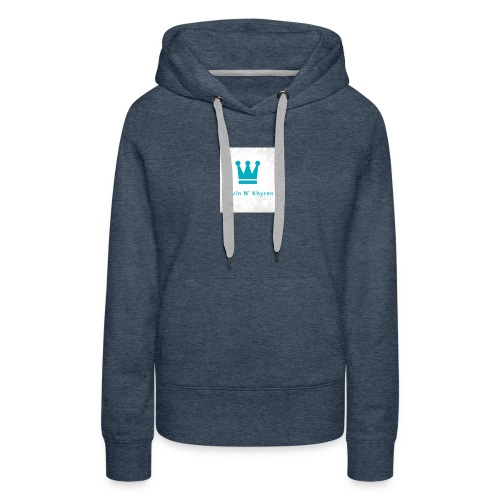 Back Ground Sparks on Blue Classic - Women's Premium Hoodie