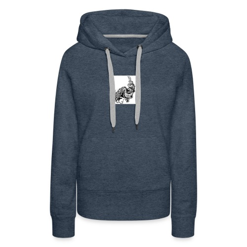 24019358 dragon black and white illustration - Women's Premium Hoodie