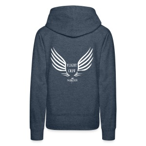 flight crew logo white - Women's Premium Hoodie