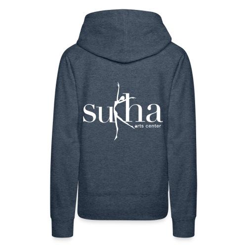 sukha white logo - Women's Premium Hoodie