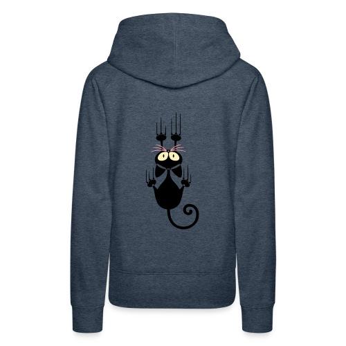 Funny Pets - Scratching Cat - Women's Premium Hoodie