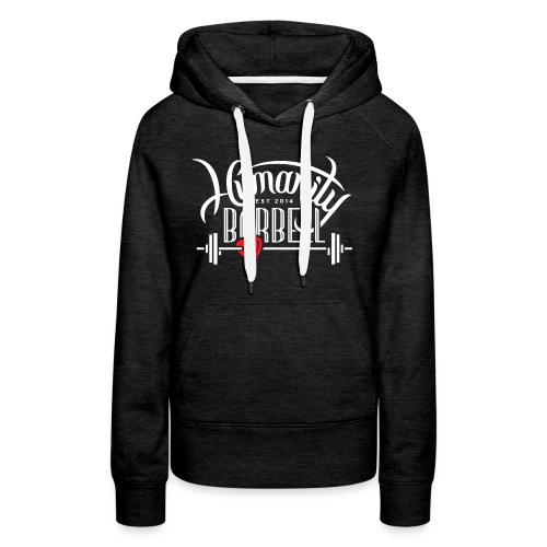 Humanity Barbell White w/Red Heart - Women's Premium Hoodie