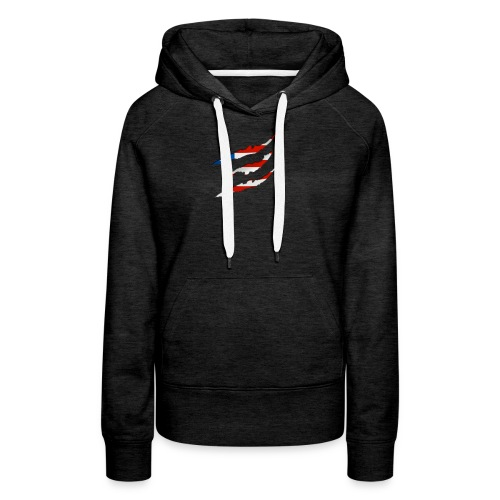 3D American Flag Claw Marks T-shirt for Men - Women's Premium Hoodie