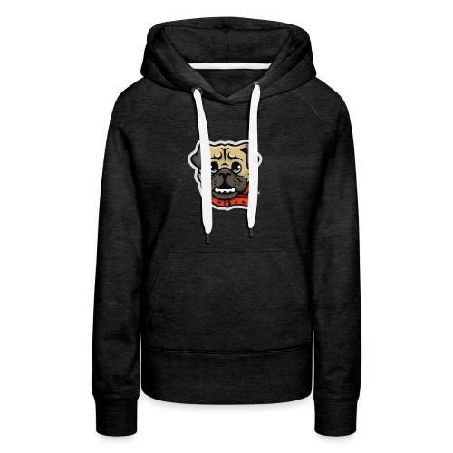 Pug_Mascot_WhiteBG - Women's Premium Hoodie