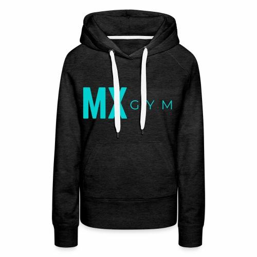 MX Gym Minimal Long Teal - Women's Premium Hoodie