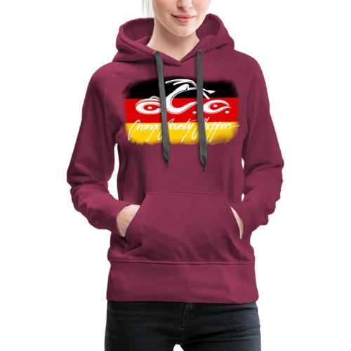 OCC Logo Distressed German Flag - Women's Premium Hoodie