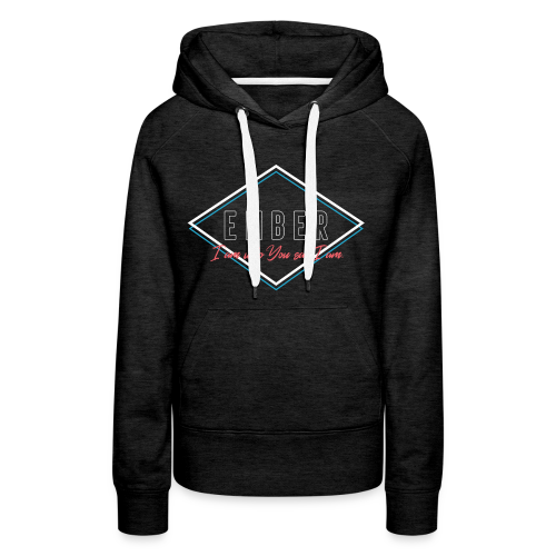 EMBER- Who You Say I Am (Coral) - Women's Premium Hoodie