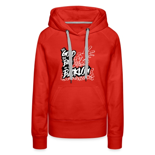 The Good, the Bad, and the Backlog - White logo2 - Women's Premium Hoodie