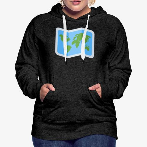 Awesome artsy Earth map - Women's Premium Hoodie