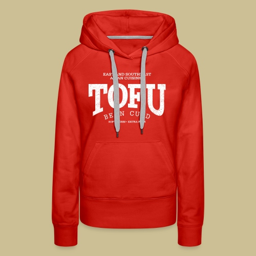 Tofu (white oldstyle) - Women's Premium Hoodie