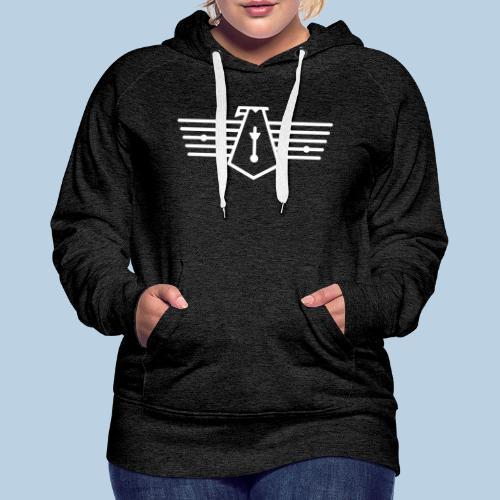 Westport Bird White on transparent - Women's Premium Hoodie