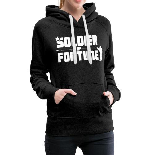 SOF Logo White - Women's Premium Hoodie