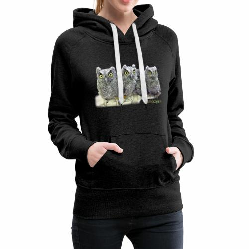 Five Western Screech Owls at WildCare - Women's Premium Hoodie