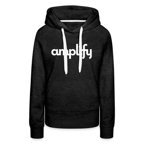 amplify logo// white - Women's Premium Hoodie