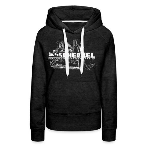 JJ Scheckel Dozer White - Women's Premium Hoodie