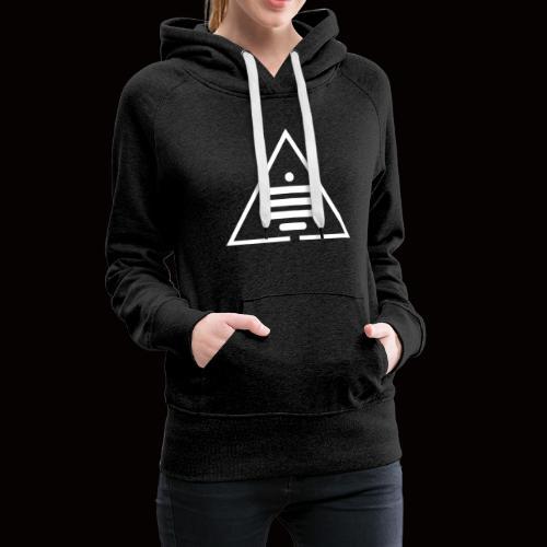 Logo blanc Sea of MInds - Women's Premium Hoodie