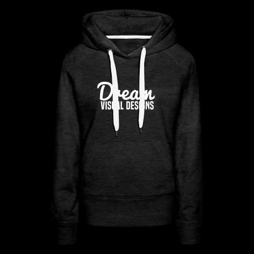DreamVisualDesigns Logo (white) - Women's Premium Hoodie