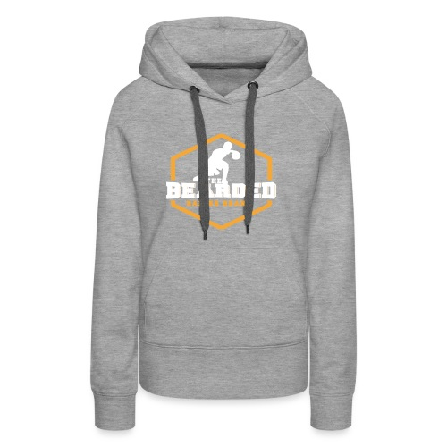 The Bearded Baller Brand White and Gold - Women's Premium Hoodie