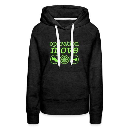 Square Logo Neon Green - Women's Premium Hoodie