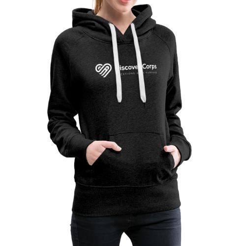 DiscoverCorp Logo Horizontal Rev High white - Women's Premium Hoodie