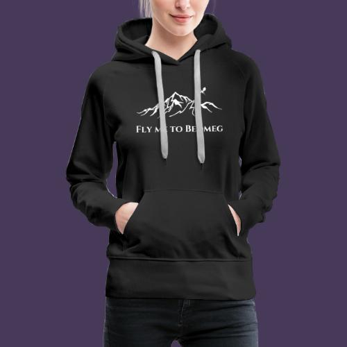 Fly Me to Bedmeg (white) - Women's Premium Hoodie