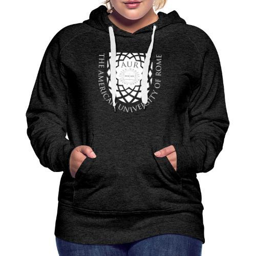 AUR Crest Logo White - Women's Premium Hoodie