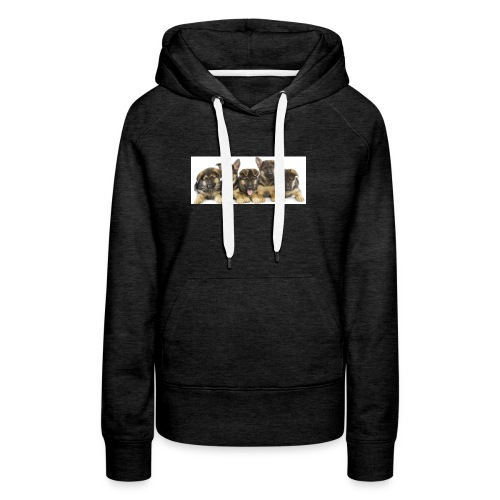 cropped german shepherd puppies - Women's Premium Hoodie