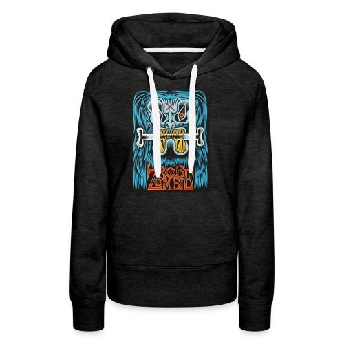 White ZOMBIE limited art print devils rejects - Women's Premium Hoodie
