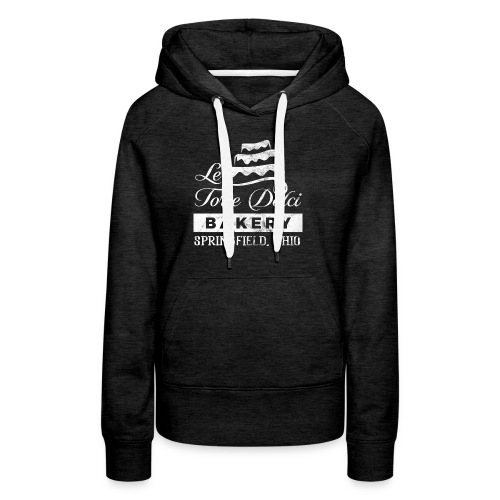 Le Torte Dolci Logo Worn White Ink Version - Women's Premium Hoodie