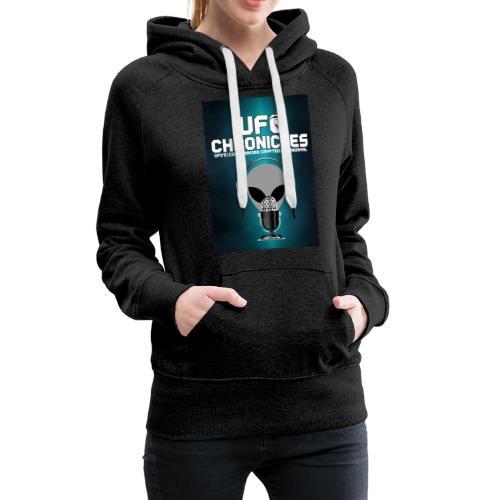 UFO Chronicles Logo with Grey Mike - Women's Premium Hoodie