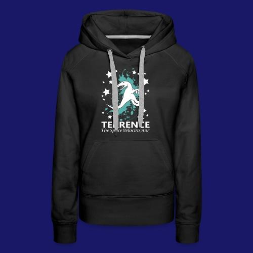 Terrence the Space Velociraptor - Women's Premium Hoodie