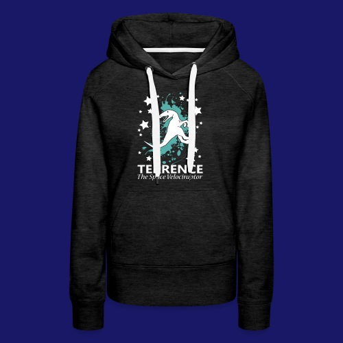Terrence the Space Velociraptor - Women's Premium Hoodie