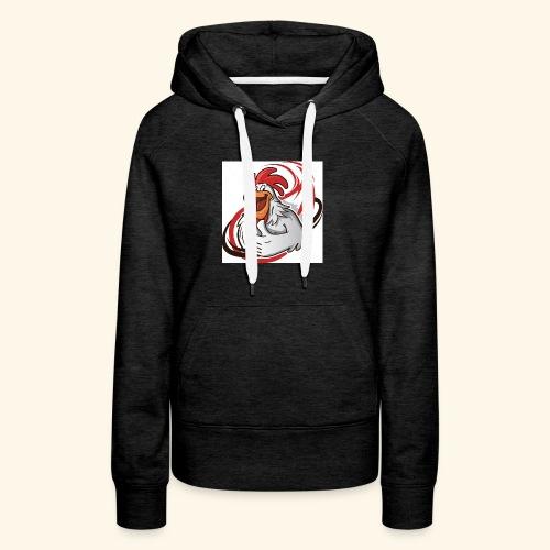cartoon chicken with a thumbs up 1514989 - Women's Premium Hoodie