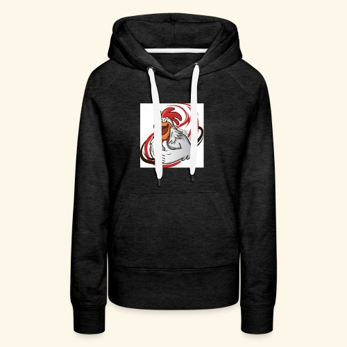 cartoon chicken with a thumbs up 1514989 - Women's Premium Hoodie