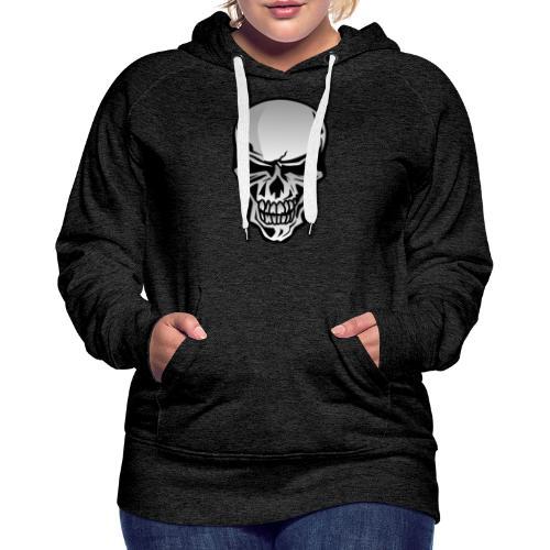 Chrome Skull Illustration - Women's Premium Hoodie