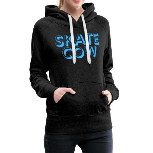 Printed Skate Cow - Women's Premium Hoodie