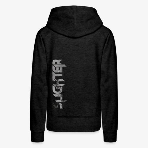 Slighter Line Glitch Logo - Women's Premium Hoodie