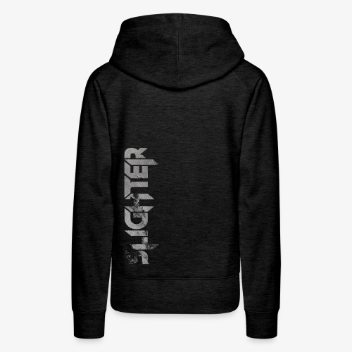 Slighter Line Glitch Logo - Women's Premium Hoodie