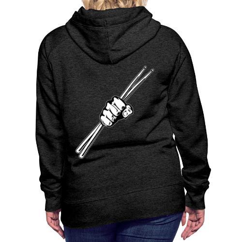 Drum Sticks Fist Punch - Women's Premium Hoodie