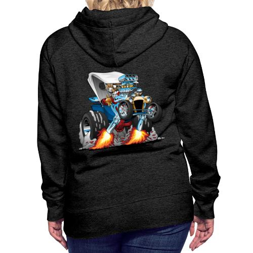 Custom T-bucket Roadster Hotrod Cartoon - Women's Premium Hoodie