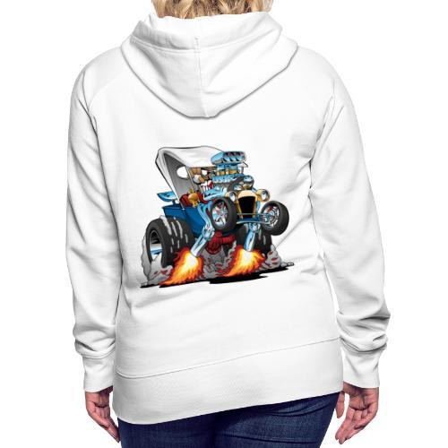 Custom T-bucket Roadster Hotrod Cartoon - Women's Premium Hoodie