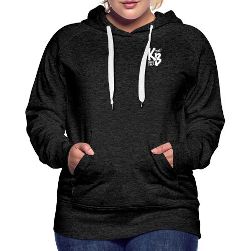Kure Beach Day-White Lettering-Front and Back - Women's Premium Hoodie