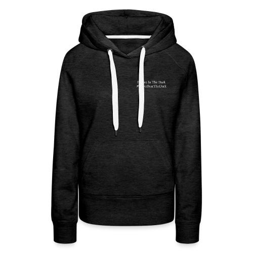 Channel name and hashtag with logo on back - Women's Premium Hoodie