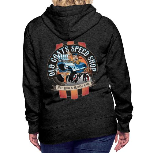 Old Goats Speed Shop Vintage Car Sign Cartoon - Women's Premium Hoodie