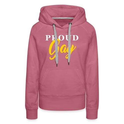 Proud Gay T-Shirt - Women's Premium Hoodie
