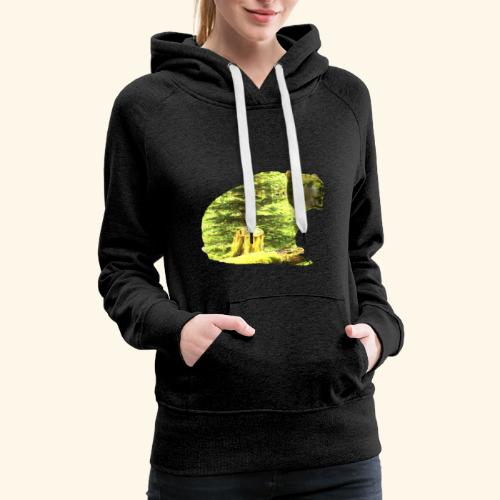 Bear isolated in the woods - Women's Premium Hoodie