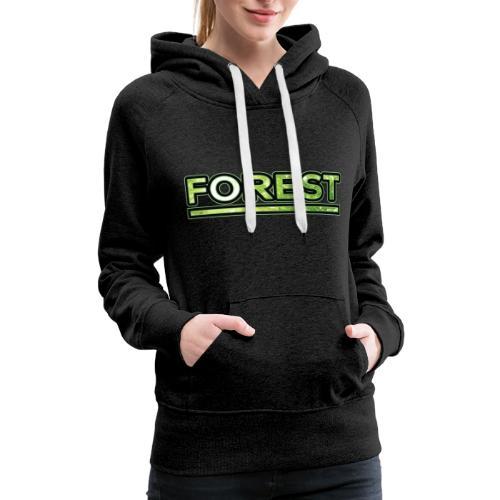 Forest - Double Exposure - Effect - Women's Premium Hoodie