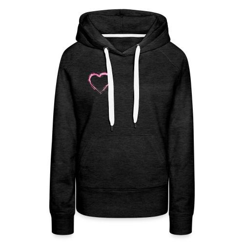 Pink Heart Shirt - Women's Premium Hoodie