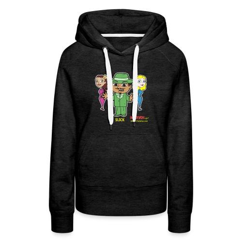Slick from Marvin the Simp Cartoon - Women's Premium Hoodie