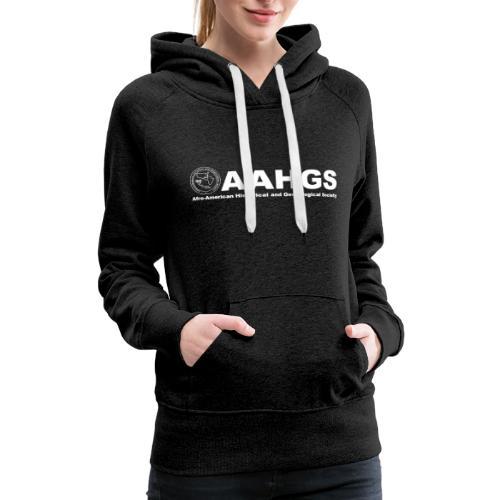 AAHGS logo closeup trans white - Women's Premium Hoodie